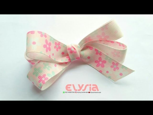 Simple Mini Hair Bow   DIY by Elysia Handmade