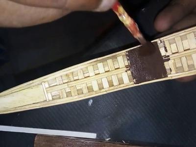 எப்படி கேரளத்து பாம்பு படகு செய்வது? DIY How to Make a Popsicle Sticks Miniature Kerala Snake Boat?