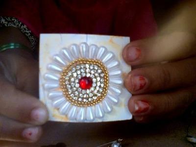 Wow! How to make beautiful  saree  pin.Brooch.Diy. at  home