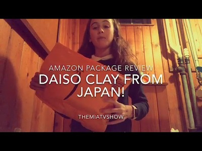 AMAZON DAISO CLAY FOR SLIME OPENING VIDEO+MIXING VIDEO OF THE CLAY INTO SLIME!????