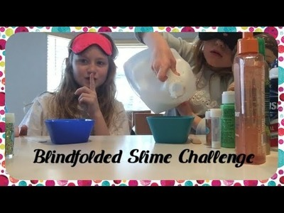 Blindfolded Slime Challenge with Juju! | CHEATER ALERT