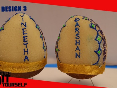 Designer Kobbari | Decorated Coconuts for marriage : Marriage items | DIY | Part 3