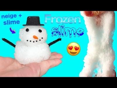 DIY cloud slime ! Slime avec de la neige ! Frozen slime ☃️⎮Reva ytb