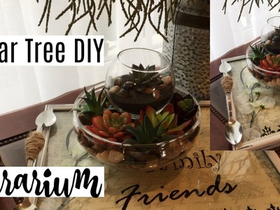 DIY Dollar Tree 2 Tier Terrarium