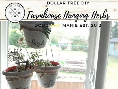 DOLLAR TREE DIY: FARMHOUSE HANGING HERBS [Dou&Marie At Home]