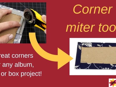 Great corners for scrapbook, bookbinding or cartonnage with this corner miter tool