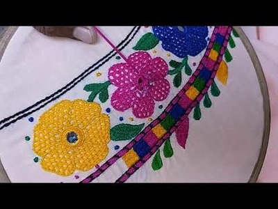 Hand Embroidery : Butterfly design. part-2