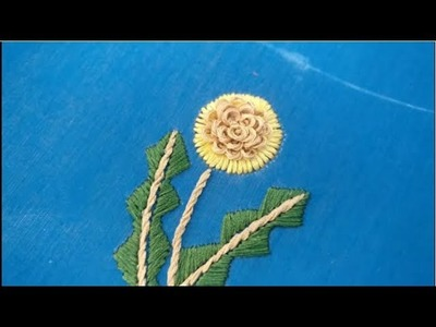 Hand Embroidery - Flowers and Stem Stitch Tutorial