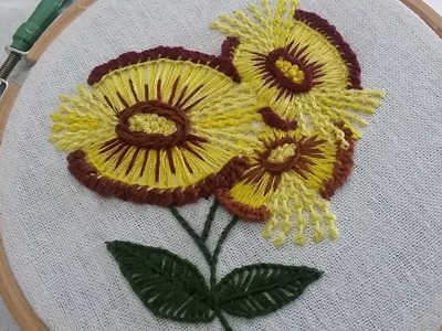 Hand embroidery for beginners with easy stitches