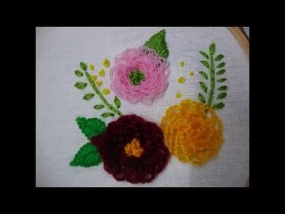 Hand Hand Embroider Rings Flower Stitching Designs Most Embroidery