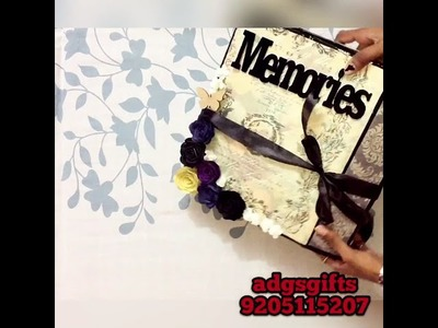 Handmade scrapbook ||awesome birthday.anniversary gift ||by anshu Patel ||sold