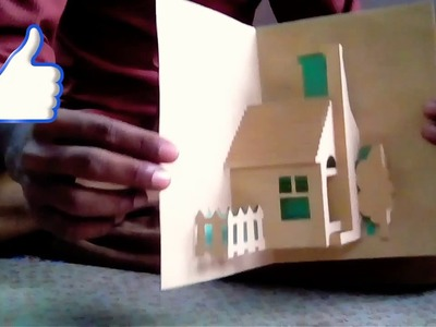House pop-up card. 3d card. house card. home card