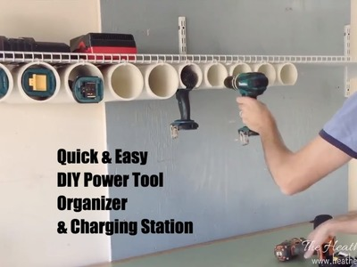 How to Build a Quick & Easy DIY Power Tool Organizer & Charging Station