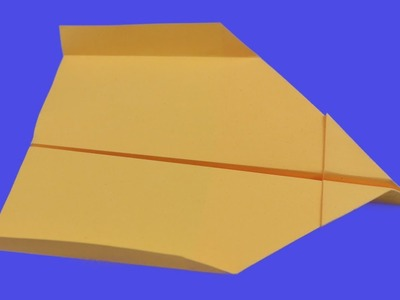 How to make a  paper stealth airplane that flies away and with smoothness and calm