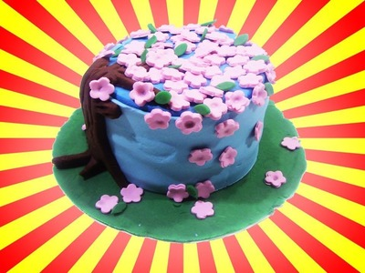 Learn How To Make Nature Cake with Play Doh Sparkle - DIY Nautre Cake with Playdoh