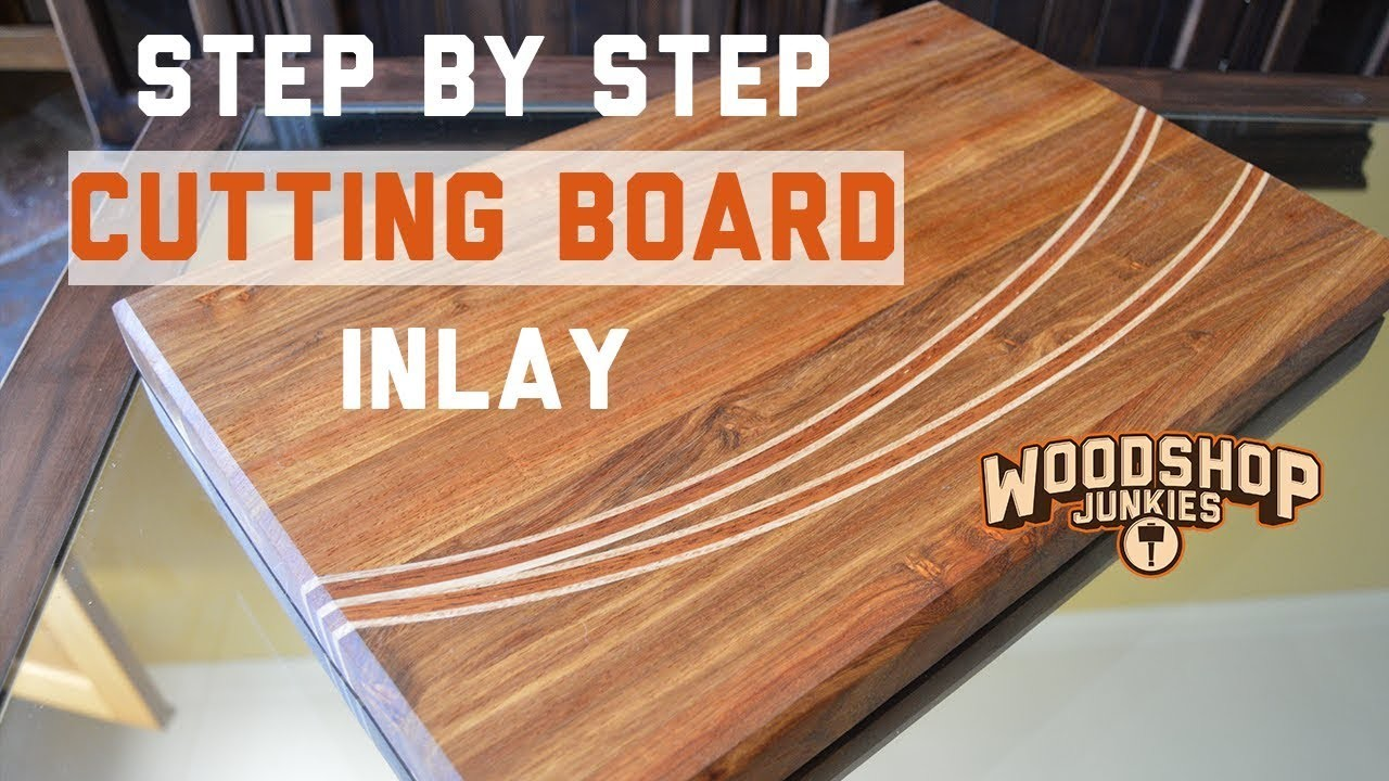 Making a wooden chopping board with inlay - STEP BY STEP DIY