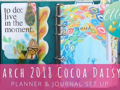 March 2018 Cocoa Daisy Planner & Journal Set Up