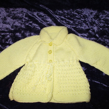 Matinee Jacket 0- 3mths Mint Lemon