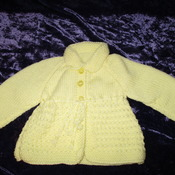 Matinee Jacket 0- 3mths Mint Lemon