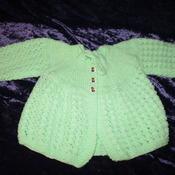 Matinee Jacket 3mths Mint Green