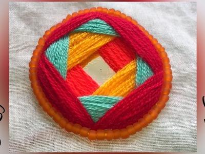 New Mirror hand embroidery   Shesha hand embroidery tutorial   Keya's craze (2018)