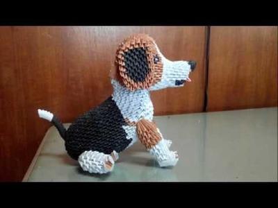 Origami 3d beagle (dog)