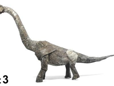 ORIGAMI BRACHIOSAURUS TUTORIAL (Shuki Kato) PART 3 折り紙 ブラキオサウルス  恐竜  DINOSAUR  DINOSAURIO