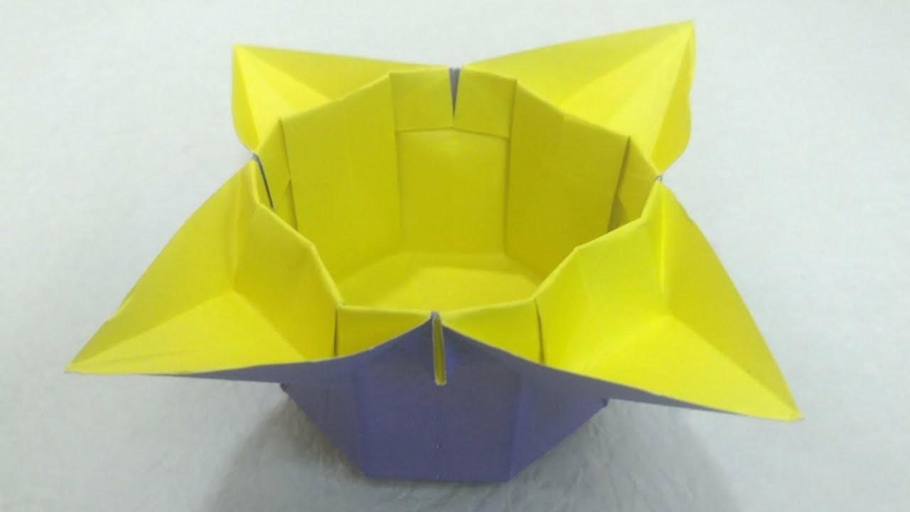 Origami flower box tutorial mightylinksfo