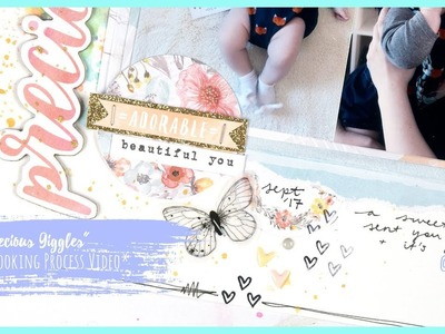 """Precious Giggles"" Scrapbooking Process Video + + + INKIE QUILL"