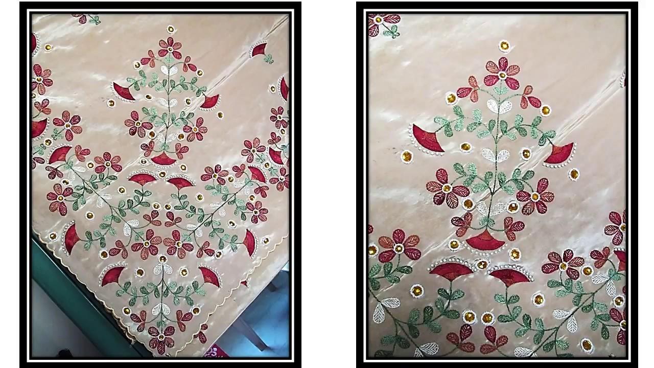 Saree Sari Hand Embroidery Design 6