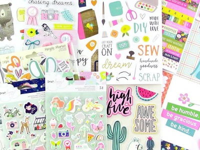 ???? Scrapbook.com Haul: Simple Stories Crafty Girl, Puffy Stickers and More ????