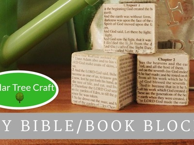 TUTORIAL: DIY Bible or Book Blocks | Dollar Tree DIY Craft | Easter DIY Decor | Farmhouse decor