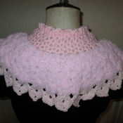 Victorian Style Capelet/Prom Cape Pink (10-teen Size)