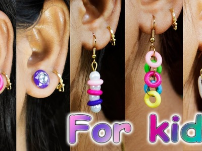 5 easy earring from kids project material | earring for kids | Art with Creativity