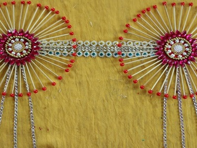 Amazing! Craft ideas with Toothpick    Reuse ideas for wall decor   Best out of waste - DIY projects