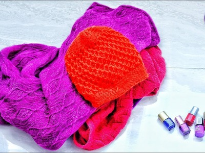 Best use of waste Sweater craft ideas | #DIY art and crafts | Old sweater idea | Artkala 446