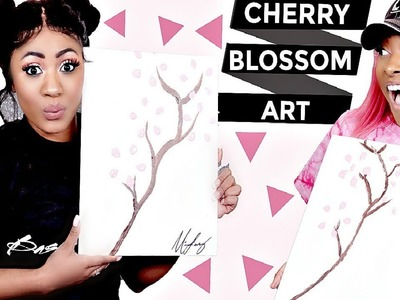 CHERRY BLOSSOM TREE ART TUTORIAL DIY How To Make Chinese Traditional ART Karma Playhouse