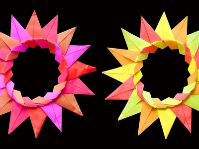 Circle Paper Flower Craft - Easy and Fun : DIY Crafts
