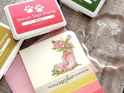 Coloring with Inks & Blender Pen - Simon Says Stamp March 2018 Card Kit