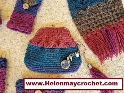 Crochet Heavenly Blessing Matching Coin Purse DIY Video Tutorial