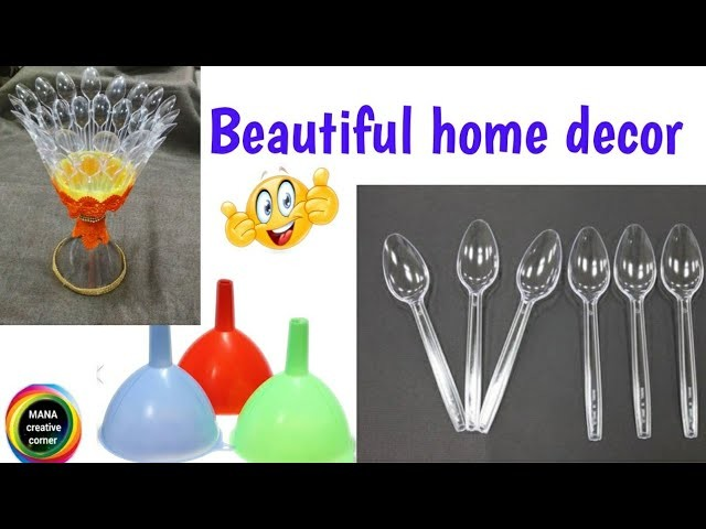 Disposable Plastic Spoons And Funnel Craft Ideasbest Out Of Waste Decor