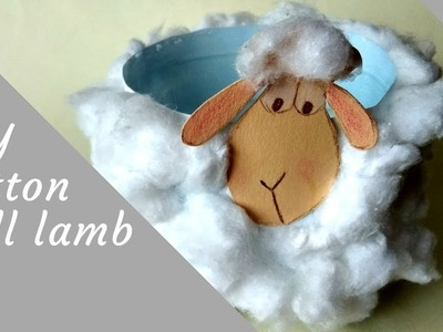 DIY craft idea:cotton ball lamb for Easter or Christmas