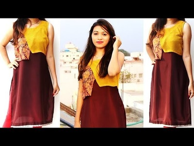 DIY Designer Straight Cut Kurti From Old Saree Cutting And Stitching Tutorial