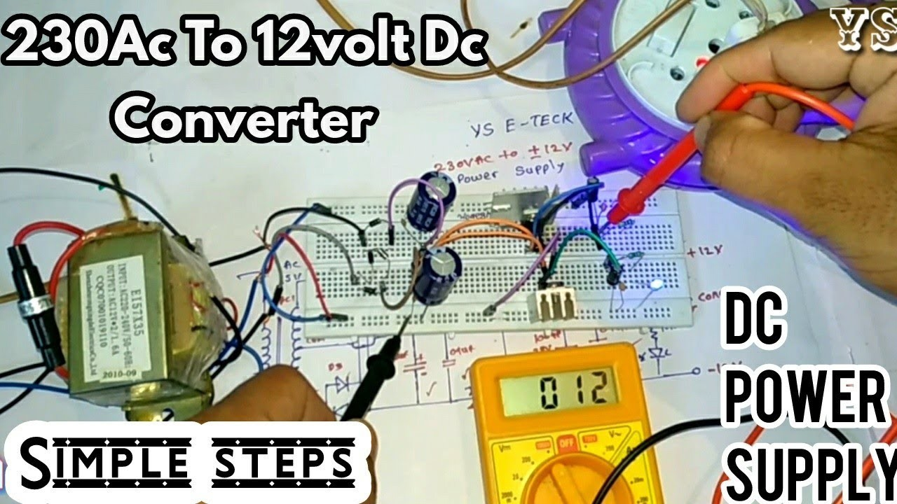Diy Dual 12volt Power Supply Design In Easy Steps 230ac To 12v Dc Converter Ac