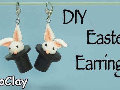 DIY Easter Earrings - Bunny in a top Hat
