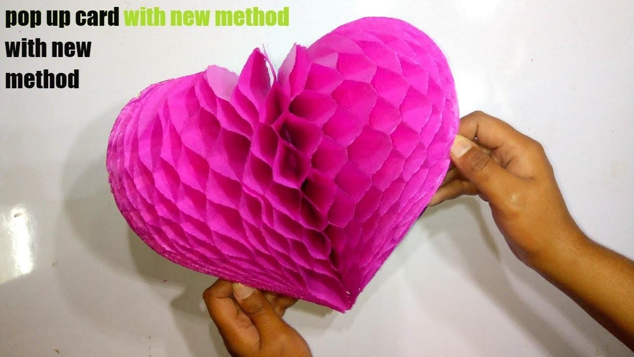 Diy Flower Pop Up Card Paper Crafts Handmade Craft Very Easy