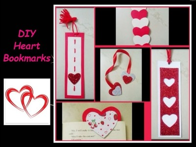 DIY Heart Bookmarks Tutorial   How To Make Bookmarks   5 easy ways