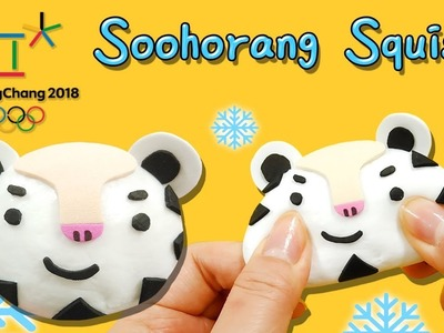 DIY) How to Make 2018 PyengChang Olympic's mascot . Mochi Mascot Soohorang