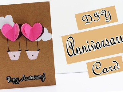 DIY | How To Make Anniversary Card | Handmade Greeting Card for Anniversary