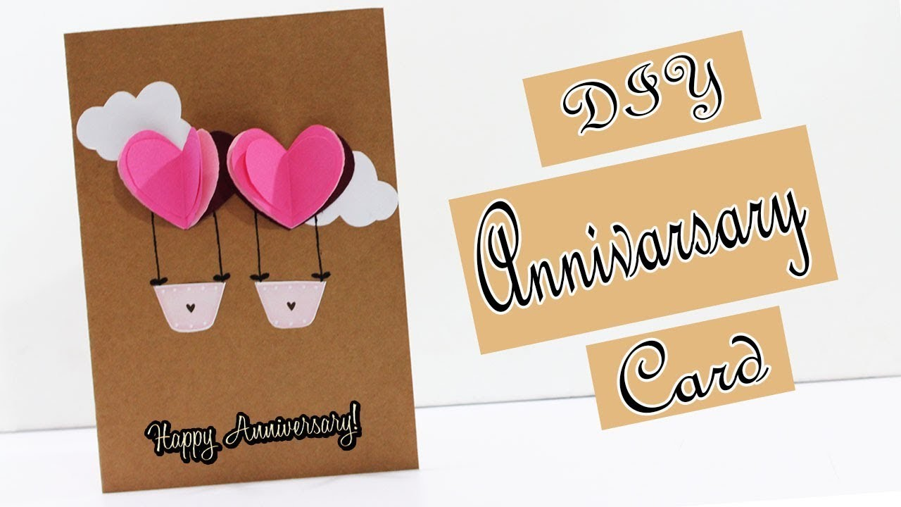 DIY | How To Make Anniversary Card | Handmade Greeting Card for Anniversary